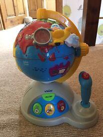 Various children's toys including vtech.
