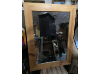 Nice Large Solid Pine Framed Wall Mirror
