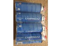 Campingaz CP 250 isobutane mix gas cylinders 4 camping gas cylinders