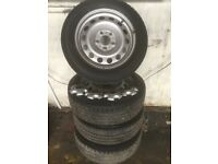"2012 Mini Countryman 16"" steel wheels and tyres £100.00 5 stud"