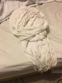 Accessorize white scarf/ wrap