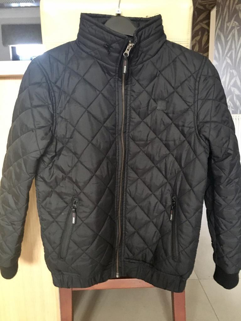 Boys Black Quilted Jacket