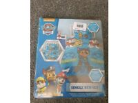 Paw Patrol Single Bed Set Cot Bed Baby Bed Duvet - Brand New