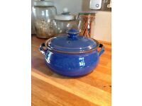Denby imperial blue casserole dish