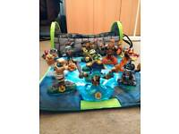 Skylanders swap force swappable figures.