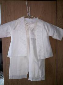 Boys christening outfit - like new