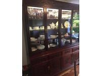 Rosewood display cabinet