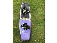 Wake Board OBRIEN 140 SYSTEM as new apart From couple of small scratches. Size 8 to 12 Bindings