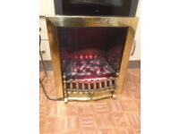 Electric fire with light and coal effect