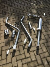 VW TRANSPORTER T4 - PREMIUM - SINGLE EXIT STAINLESS EXHAUST BRAND NEW