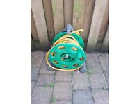 Hozelock hose and reel, good condition