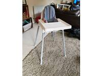 Ikea ANTILOP high chair, insert and tray