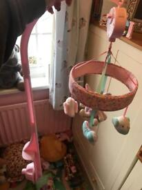 Mothercare baby girl cot mobile