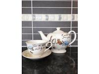 Winnie the Pooh Tea Pot and Cup & Saucer