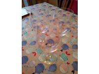 Large wine glassesx3