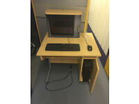 4 Computer Desks lockable cybercafe with flat screens keyboards mice excellent condition