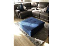 Pouffee square footstool storage box