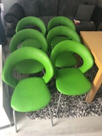 ** DINING TABLE AND SIX CHAIRS**