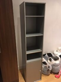 Wardrobe/Shelving with hooks and full length mirror