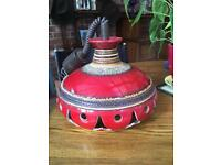 Retro pull down pottery lampshade
