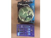 DJ Equipment Citronic PD-1 DJ Pro with Numark DM2000X Mixer