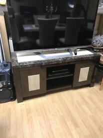 Engineered marble media tv unit