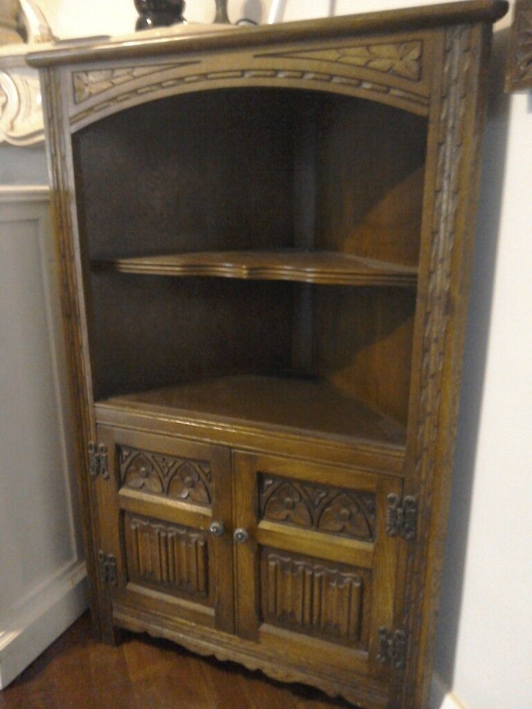 corner furniture piece. Dark Oak Corner Unit. Old Charm Furniture Piece Wood Bros. E
