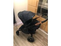 Icandy Limited Edition navy and rose gold carrycot/ pushchair