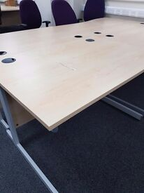 Maple effect straight office desk 1200mm , good quality