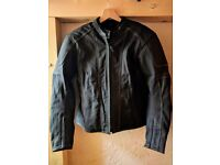 Ladies Frank Thomas motorcycle leathers, black, size L