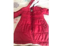 Debenhams girls Red winter coat jacket 9-10 years