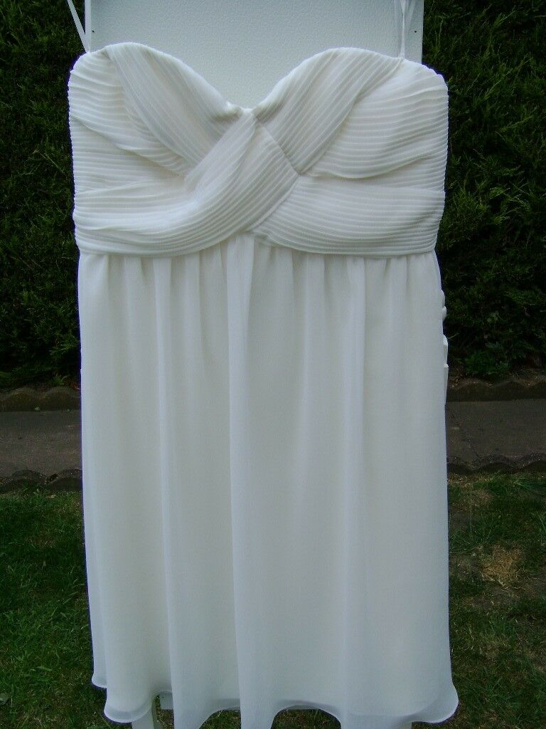 LOVELY BHS DARCY STRAPLESS WEDDING/PROMS/EVENING DRESS , SIZE 14 ...