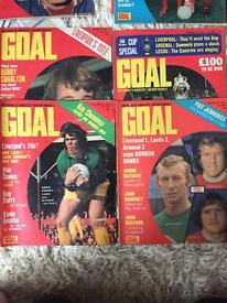GOAL MAGAZINES EARLY 70'S