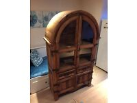 Solid pine furniture, unique-imported from Mexico bought in Germany - 3 pieces + mirror