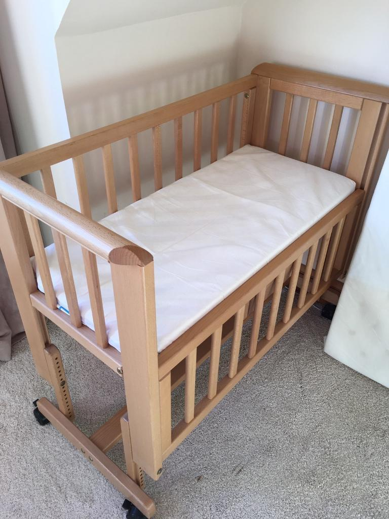 Baby bed next to bed - John Lewis Next To Me Co Sleeper Bedside Crib Natural Light Oak