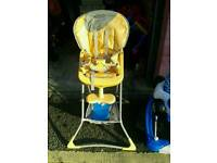 Baby's highchair and other items