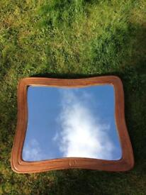 VINTAGE RETRO RUSTIC SHABBY COUNTRY CHIC FARMHOUSE PITCH PINE MIRROR