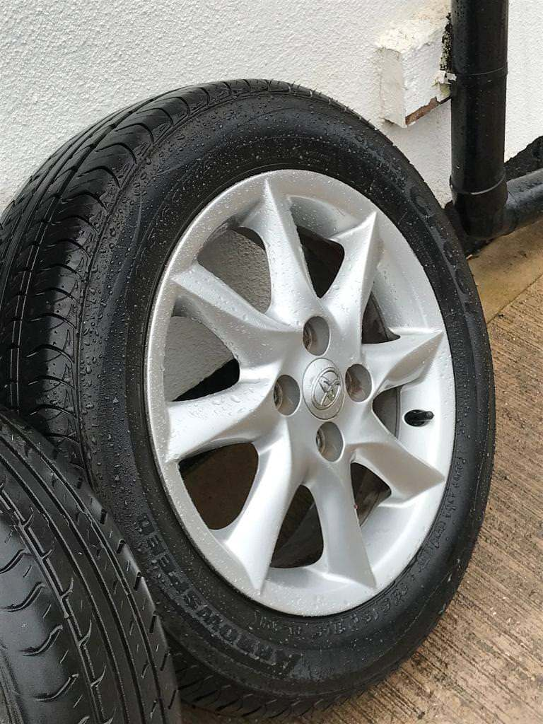autos corolla s black set wheels inches toyota rims chrome and a one alloy product