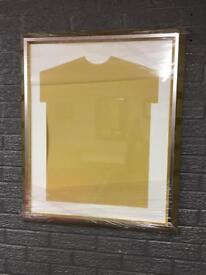 gold diy shirt frame