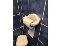Quality white toilet roll holder