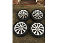 Audi A1 16 inch Sport Alloy Wheels with Tyres for Audi Skoda Volkswagen