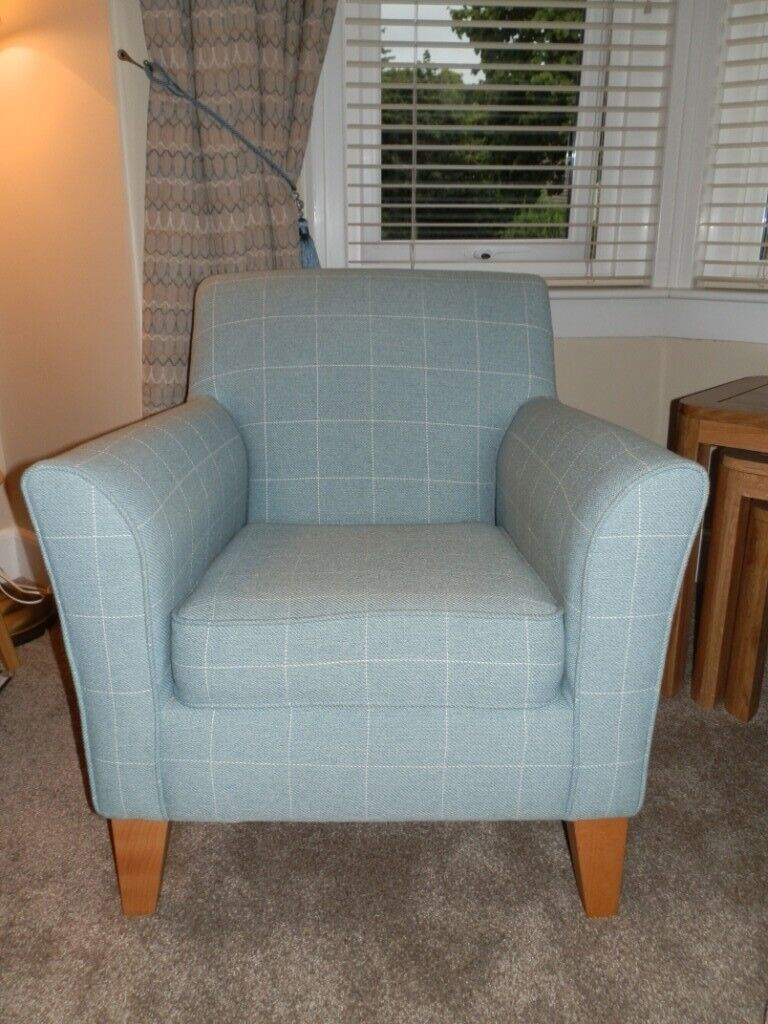 NEXT Blue Check Armchair | in Dundee | Gumtree