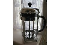 Bodum French Press Cafeteira with 5 Tea Glasses in Chrome Holders