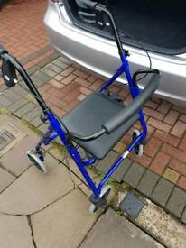 Walking aid 4wheel chair as new