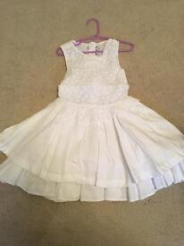 A Dee White Summer Dress age 6 years