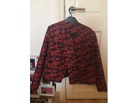 Women's jacket size 12, very cool william morris style design
