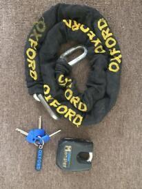 Oxford Monster Lock 1.5m Chain & Padlock