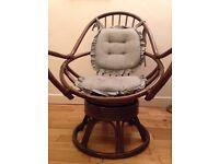 Vintage bamboo swivel chair