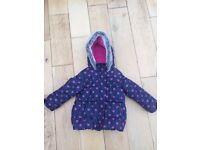 Girls Blue Zoo winter coat age 18-24 months