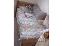 SINGLE BED WITH MATTRESS AND MATCHING FURNITURE OAKLAND MANTIS RANGE